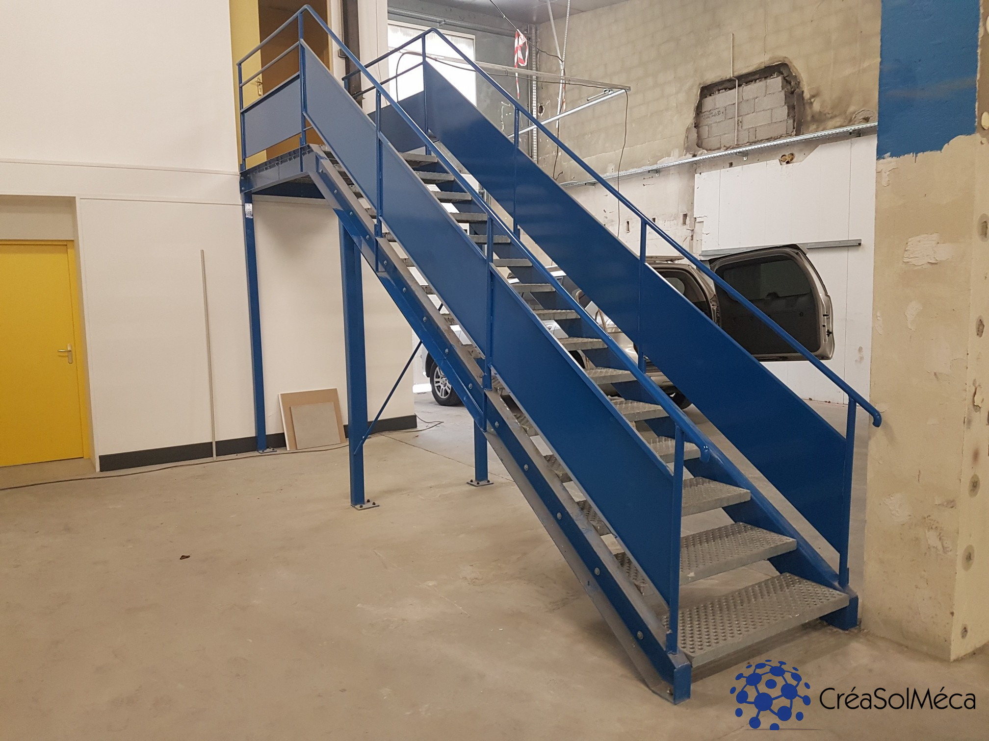 Réalisation d'un escalier industriel sur mesures